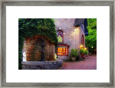 Thomas Kinkade At The Village In Gatlinburg Framed Print