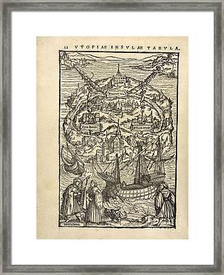 Thomas More's 'utopia' (1518) Framed Print
