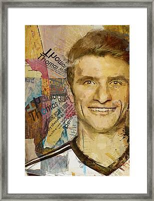 Thomas Muller Framed Print by Corporate Art Task Force