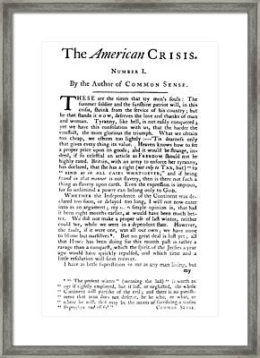 Thomas Paine: The Crisis Framed Print