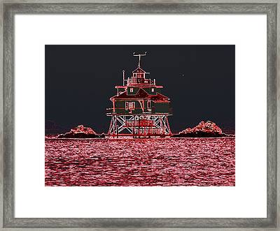 Thomas Point Light House Framed Print