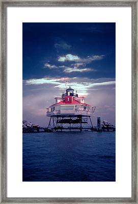 Thomas Pt.  Shoal Lighthouse Framed Print