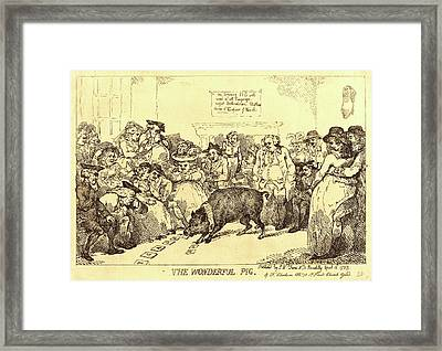 Thomas Rowlandson, British 1756-1827, The Wonderful Pig Framed Print by Litz Collection