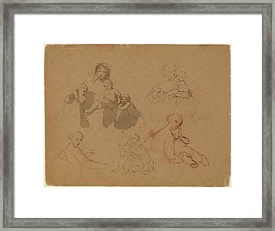 Thomas Sully, Studies Major Thomas Biddle And Thomas Framed Print