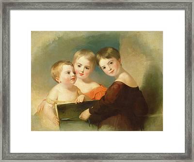 Thomas Sully, The Vanderkemp Children, American Framed Print