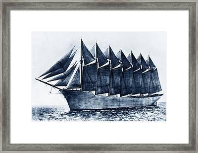 Thomas W. Lawson Seven-masted Schooner 1902 Framed Print