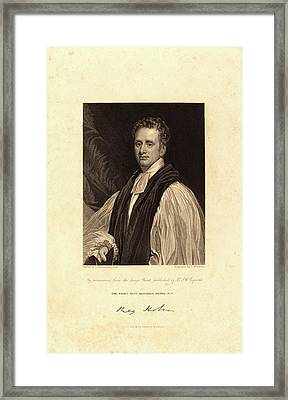 Thomas Woolnoth After Thomas Phillips, British 1785-1857 Framed Print by Litz Collection