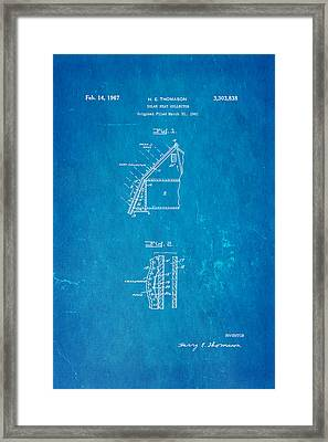 Thomason Solar Panel Patent Art 1967 Blueprint Framed Print by Ian Monk