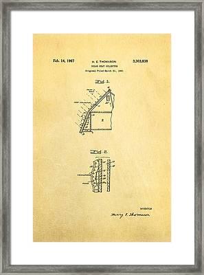 Thomason Solar Panel Patent Art 1967 Framed Print by Ian Monk