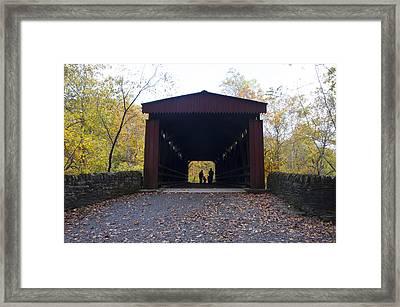 Thomas's Covered Bridge - Family Walk Framed Print