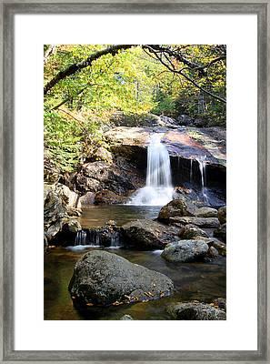 Thompson Brook Falls Framed Print by Brett Pelletier