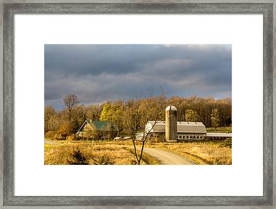 Thompson Point Dairy Framed Print by Jeremy Farnsworth