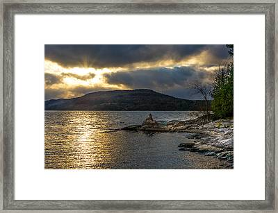 Thompson Point Sunset Framed Print by Jeremy Farnsworth