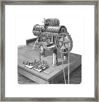 Thomson Telegraph Recorder Framed Print by Science Photo Library