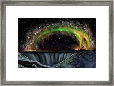 Thor And Jormungand Framed Print