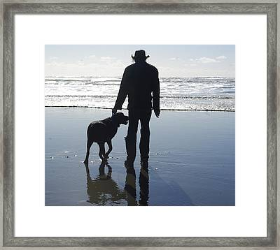 Thor At The Beach Framed Print by Keith Nichols