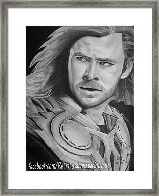 Thor Odinson - Chris Hemsworth Framed Print