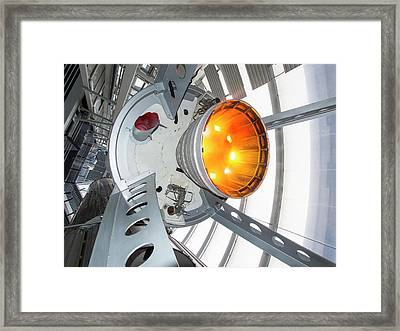Thor Space Rocket Framed Print by Ashley Cooper
