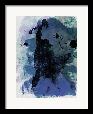 Thor Paintings Framed Prints