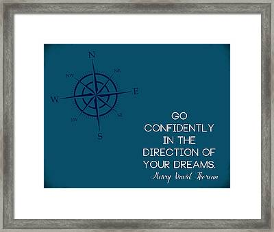 Thoreau Compass Framed Print by Nancy Ingersoll