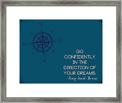 Thoreau Compass Framed Print
