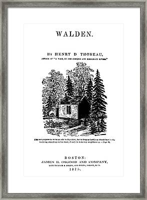 Thoreau Walden, 1875 Framed Print