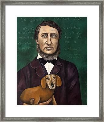 Thoreau With Louis Le Bref Framed Print by Leah Saulnier The Painting Maniac