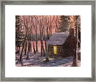 Thoreau's Cabin Framed Print by Jack Skinner