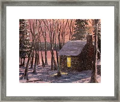 Thoreau's Cabin Framed Print