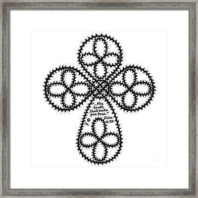 Thorns Cross Framed Print