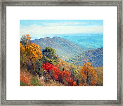 Thornton Gap Framed Print