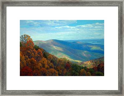 Thornton Gap Overlook Afternoon Framed Print