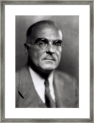 Thornton Wilder Framed Print by Pirie MacDonald