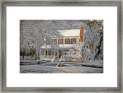 Thorntree In Snow Framed Print