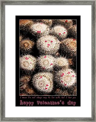 Thorny Valentine Framed Print by Weston Westmoreland