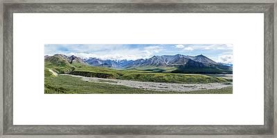Thorofare River In Denali National Park Framed Print