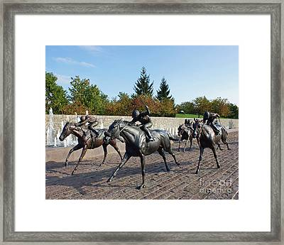 Thoroughbred Park Framed Print by Roger Potts