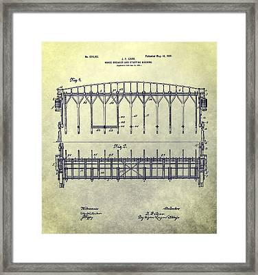 Thoroughbred Race Starting Gate Patent Framed Print