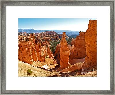 Thor's Hammer At Bryce Canyon Framed Print by Alex Cassels