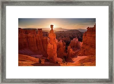 Thor's Hammer Sunrise Framed Print