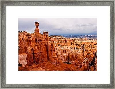Thor's Hammer - Temple Of Osiris Framed Print