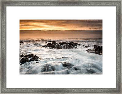 Thor's Well Framed Print by Mike  Walker
