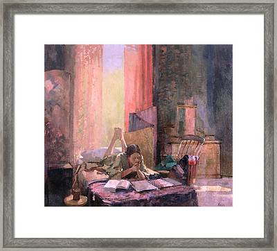 Those A Levels Oil On Canvas Framed Print by Bob Brown