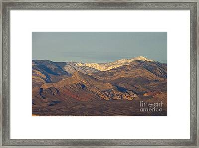 Those Beautiful Snow Cap Mountains Of Nv Framed Print