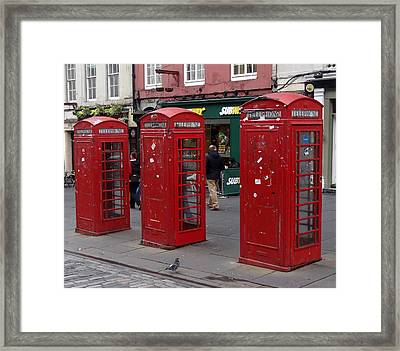 Those Red Telephone Booths Framed Print