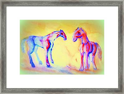 Those Were The Days When We Were Friends And They Will Never Come Back Again Framed Print by Hilde Widerberg