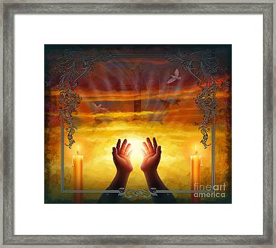 Those Who Have Departed - Religious Version Framed Print by Bedros Awak