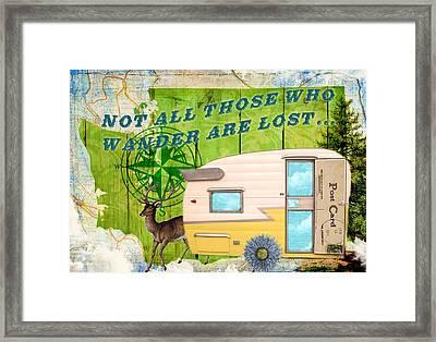 Those Who Wander Framed Print