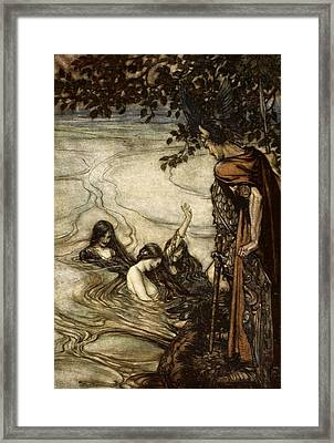Though Gaily Ye May Laugh, In Grief Ye Framed Print by Arthur Rackham