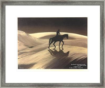 Framed Print featuring the drawing Though I Ride Through The Valley by Anastasia Savage Ealy